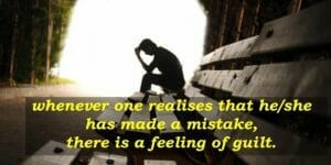 guilt is realisation of mistake