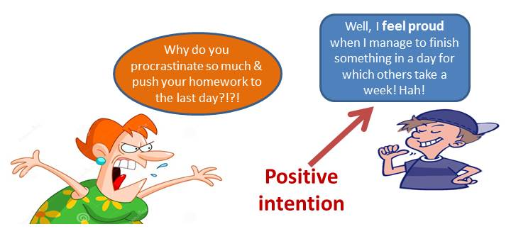 Every behaviour has positive intention